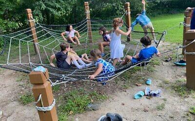 Children played at Ramah Darom.