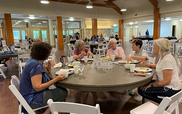 Participants discussed the sessions they had attended during meals in the Chadar Ochel (dining hall).
