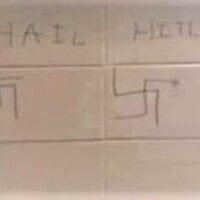 """Pope High School reported two incidents of anti-Semitic graffiti, one of which included a swastika and read """"heil Hitler."""""""