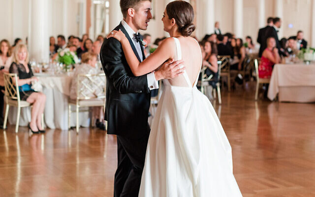 Photos by Mary Beth Marlow Photography // The bride and groom share a moment on the dance floor.