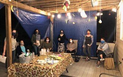 For Sukkot, Beth Tieman Feldstein required masks and social distancing during neighborhood ladies' night.