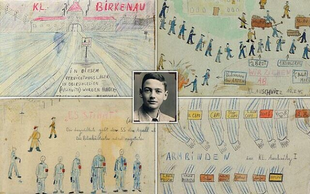After his liberation from Auschwitz, teenager Thomas Geve drew 79 works based on a secret diary he had kept, describing daily life in the concentration camp. He never drew another picture.