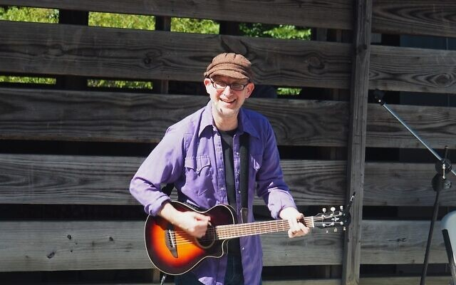 Michael Levine, the music producer of the well-known Pete the Cat books, performed Sukkot music for the families