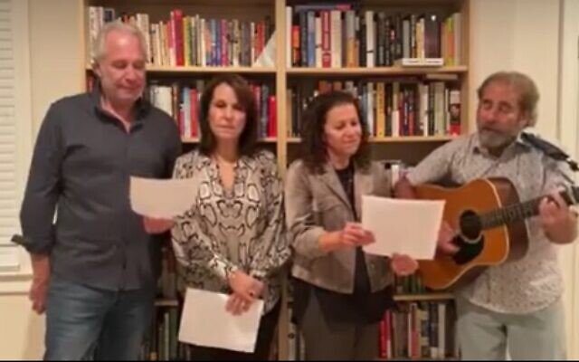 Arts & Authors Co-Chairs Deena Profis and Artie Gumer and their significant others, Jon Goldmark and Sherie Gumer.