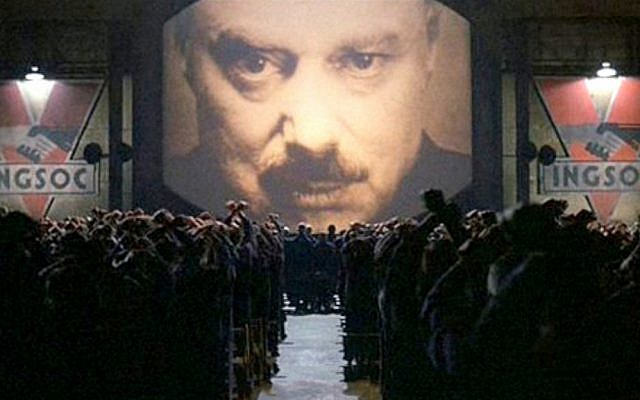 A courageous people must 'face those rulers who want to use computers not for liberation but to serve Big Brother' (image: frame from the movie 1894 based on George Orwell's novel of the same name)