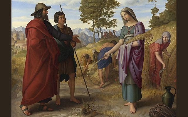 Ruth on the fields of Boaz by Julius Schnorr von Carolsfeld (cropped) (Cc via Wikipedia)