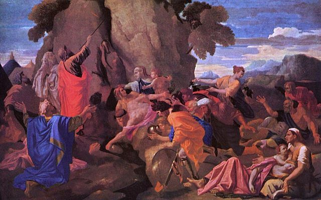 'Moses Striking Water from the Rock,' by Nicolas Poussin, 1649. (Wikimedia Commons)