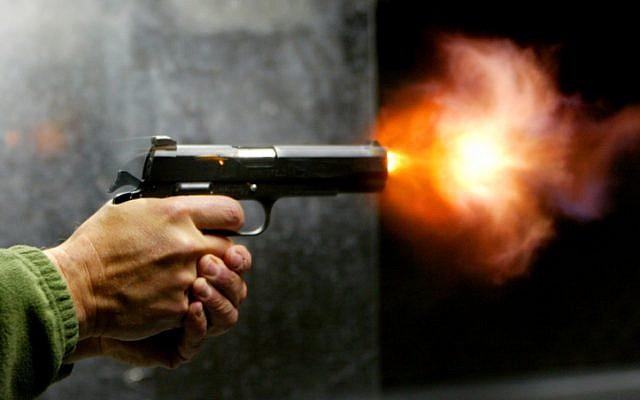 Illustrative photo of a gun. (Olivier Fitoussi/Flash90)