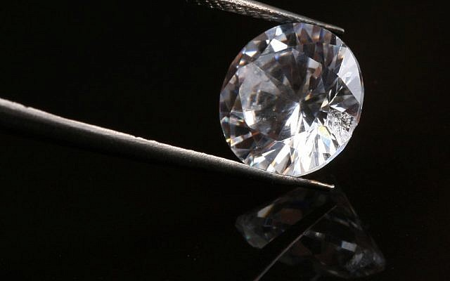 Illustrative photo of a diamond, up close (photo credit: Nati Shohat/Flash90)