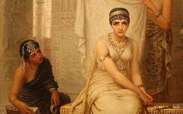 Queen Esther, as painted by Edwin Long. (Zereshk, Wikimedia Commons)