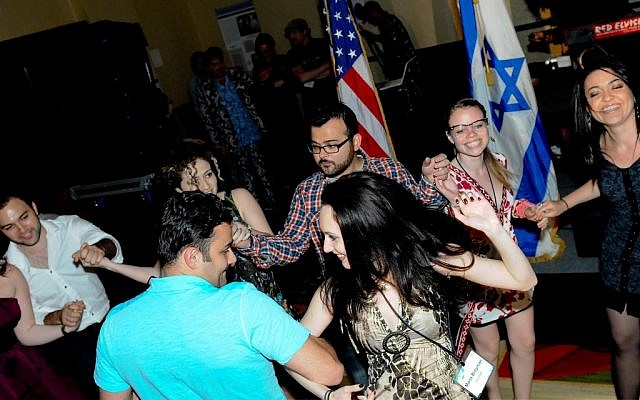 Illustrative: Russian-speaking Jewish Americans at Limmud FSU in Princeton, NJ (Courtesy Ross Den)
