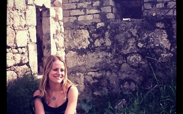 This picture of a smiling Sarah Tuttle-Singer was taken in Israel.
