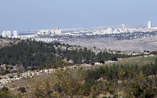 Modiin, seen here, is known more for clean parks and suburban living than for its ancient past, but the hills around the city are full of 2,000-year-old ruins and escape tunnels. (Yossi Zamir/Flash90)