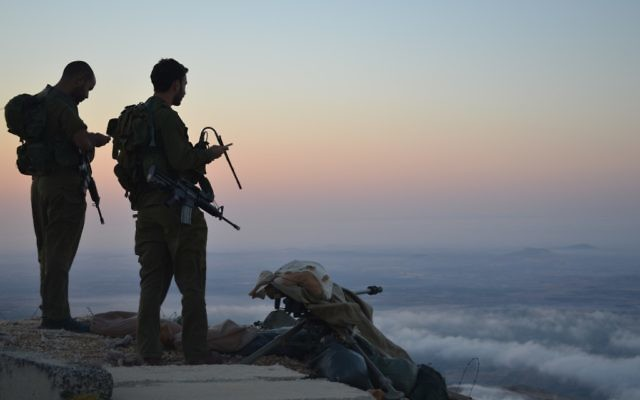 IDF soldiers stand guard