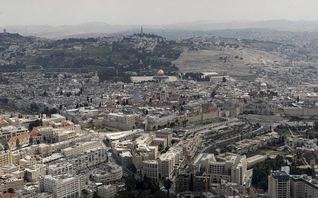 Illustrative photo of aerial view of Jerusalem (photo credit: Nati Shohat/Flash90)