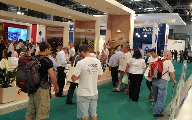 Visitors at a recent agricultural technology show in Israel (Photo credit: Courtesy)