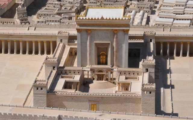 Model of Herod's Jerusalem Temple © Shmuel Browns