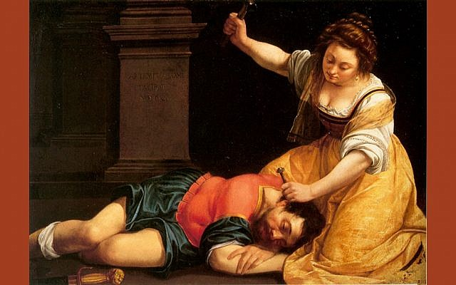 Yael and Sisera by Artemisia Gentileschi (PD-art)
