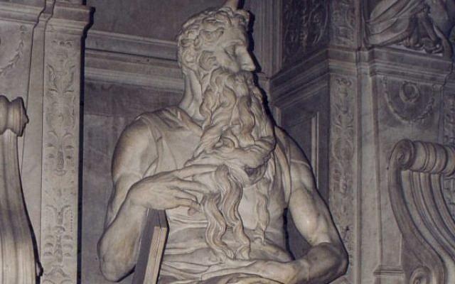 Michelangelo's Moses, 1513-15, at San Pietro in Vincoli, Rome (Patricio lorente/ Wikipedia Commons)