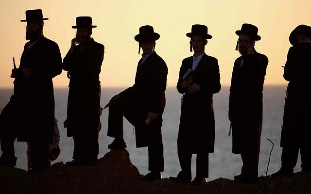 Illustrative. Ultra-Orthodox men. (Yehoshua Yosef/Flash90)