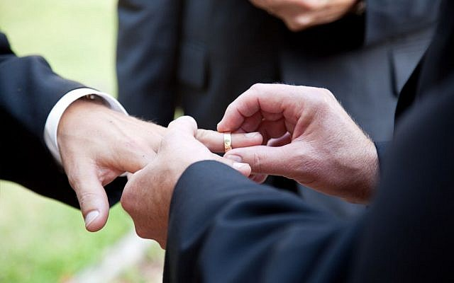 Illustrative photo of a same-sex marriage ceremony.(Photo credit: Gay marriage image via Shutterstock)