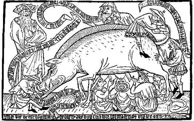 Illustrative: Medieval anti-Semitic illustration