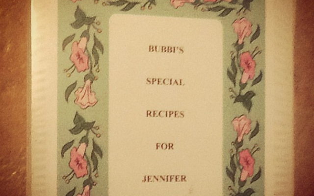 The treasured recipe book my Bubbi made for me