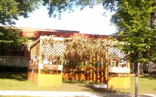 The Sukkah outside of Temple Beth El in Madison, WI