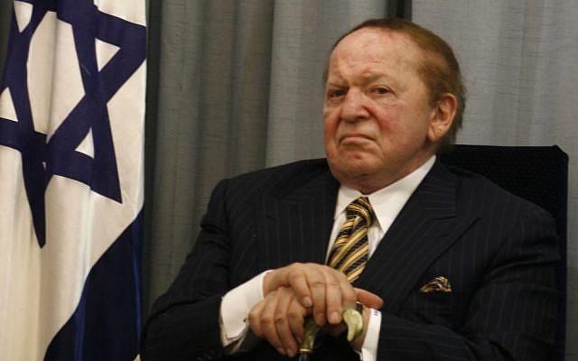 US billionaire businessman Sheldon Adelson. (Flash90/File)