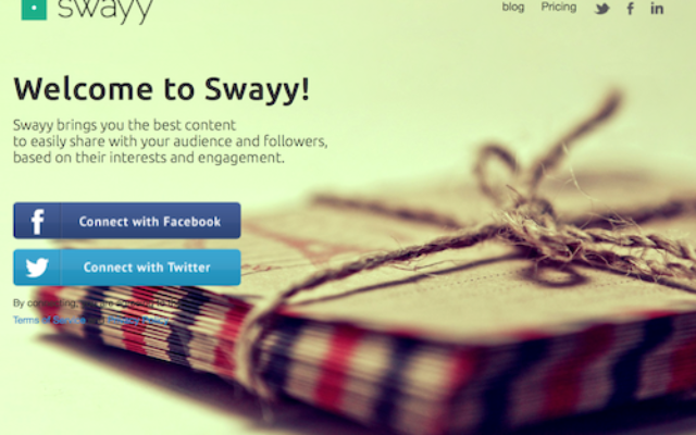 Swayy  - Manages to combine most of the important features that a social marketer can ask for.
