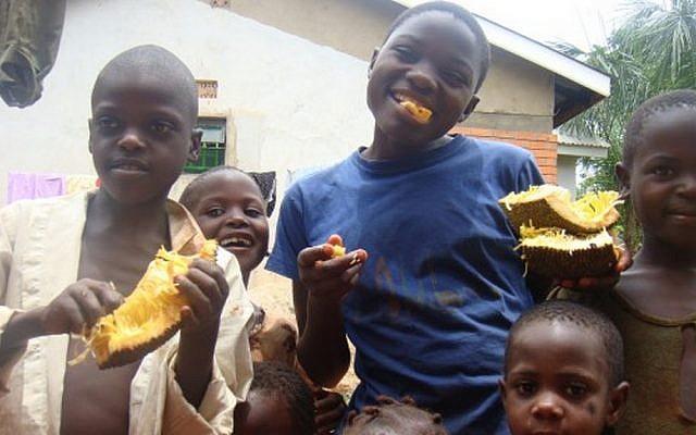 In a small Ugandan village (photo credit: Danya Kaumann)