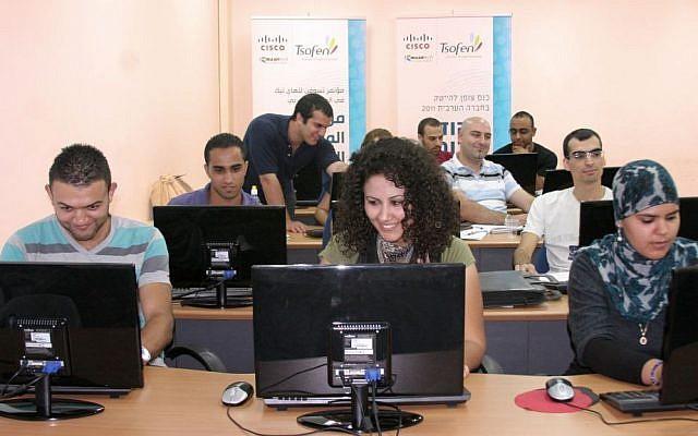 Young graduates train at Tsofen's Nazareth center (photo credit: Courtesy Tsofen)