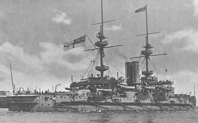 HMS Majestic (Majestic-class battleship). Photo Credit: UK Govt Public Domain (Wikipedia)