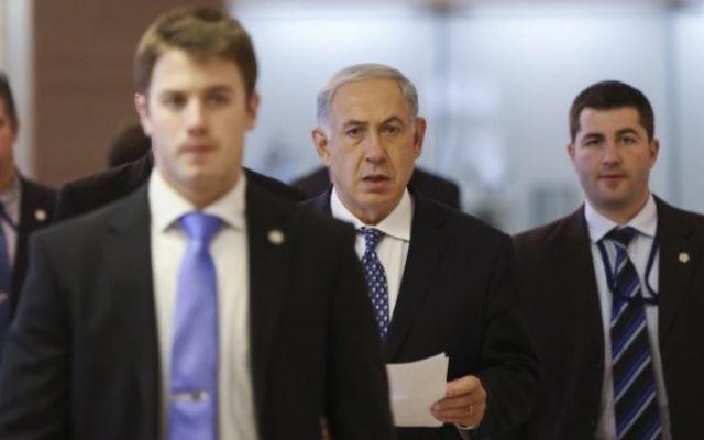 Netanyahu at his victory speech in Tel-Aviv. Photo Credit: Reuters