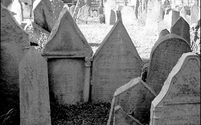 A historic Prague Jewish cemetery