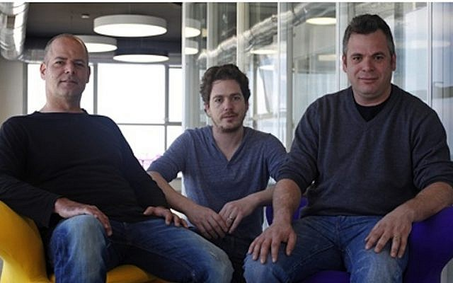 Wix co-founders (L. to R.): Giora Kaplan, Nadav Abrahami and Avishai Abrahami (Courtesy)