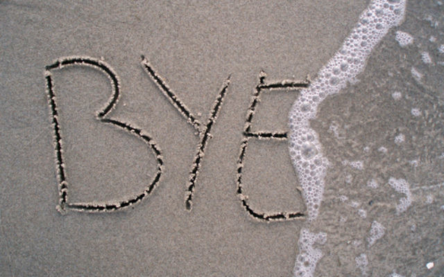 Buh bye. (photo credit: Rikke, for Shutterstock)