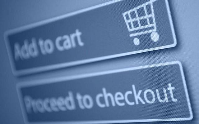 Checkout screen for online shopping (Checkout screen via Shutterstock)