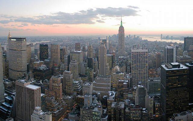 Illustrative photo of New York City (photo credit: CC BY-SA Dschwen, Wikimedia Commons)