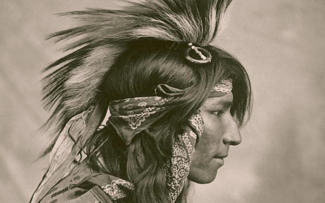 "Photo entitled ""Cree Indian"" taken in  Saskatchewan, 1903.  (Photo: G. E. Fleming, PD, Wikipedia)"