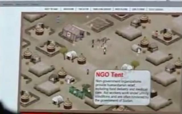 Screenshot of Games for Change video game (Youtube screenshot)