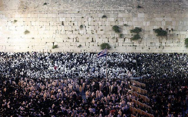 The Western Wall. (photo credit: Sliman Khader/Flash 90)