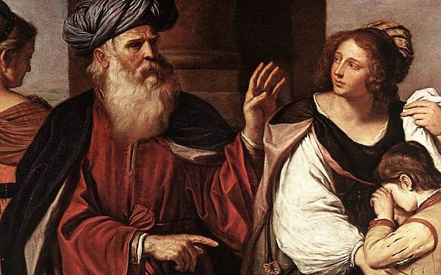 Detail of 'Abraham Casting Out Hagar and Ishmael' by Guercino (Giovanni Francesco Barbieri) (Public Domain via Wikipedia