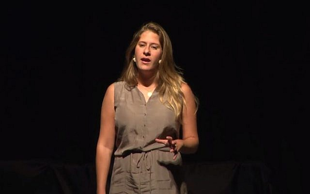 Adi Altschuler, the Israel manager of Google for Education. (screen capture: YouTube/TEDx Talks)