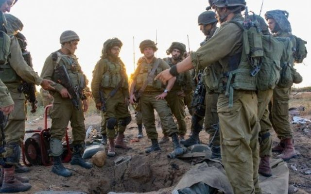 Illustrative: IDF paratroopers search for hidden tunnels used by Hamas to attack Israel. (Israel Defense Forces)