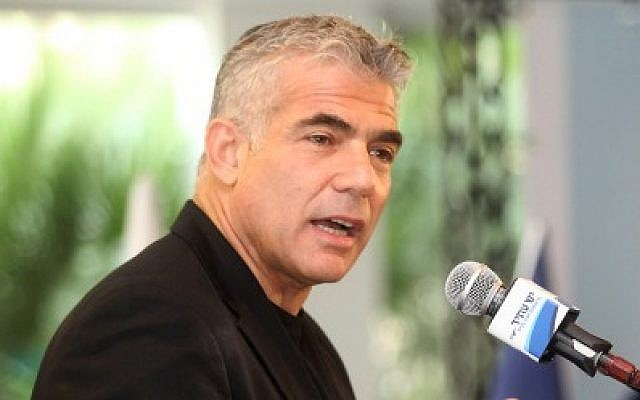 Yesh Atid chief Yair Lapid on December 12, 2014 (Photo credit: Flash90)