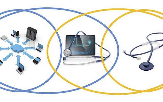 A graphic describing the nexus of digital technology and health applications. (Courtesy VLX Ventures)