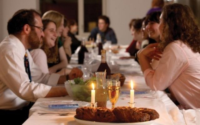 Illustrative. Shabbat dinner.