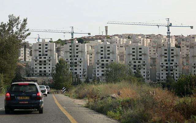 Illustrative: Housing construction in Beit Shemesh in May 2012. (Nati Shohat/Flash90)