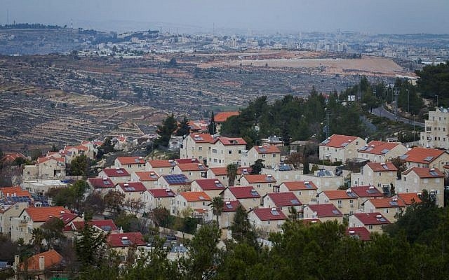 Illustrative photo of the West Bank settlement of Efrat, December 17, 2014. (Miriam Alster/Flash90)